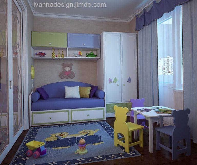 Как сделать в однокомнатной квартире детскую и взрослую