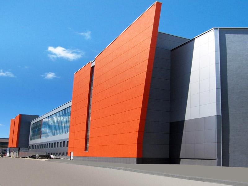 Современные алюминиевые панели для фасада